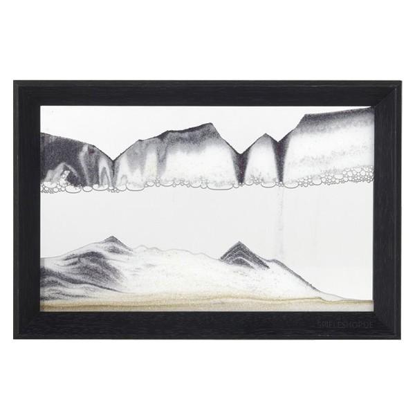 Sandbild Horizon mit Holzrahmen in Schwarz