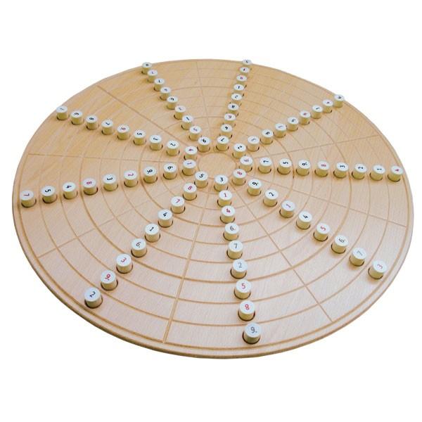 Kreis-Sudoku - classic - Großes rundes Sokoku aus Holz - 60 cm