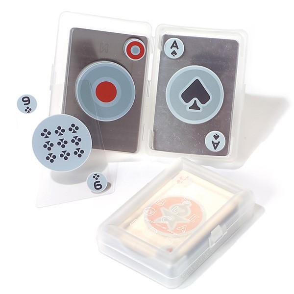Transparente Spielkarten Invisible von Kikkerland