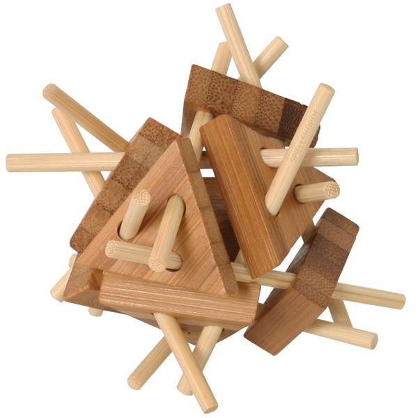 Bambus-Puzzle Dreiecke - 20 Teile