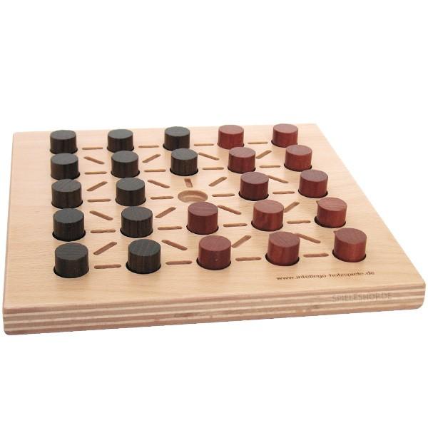 Alquerque classic - Hochwertiges Strategiespiel aus Holz von Intellego