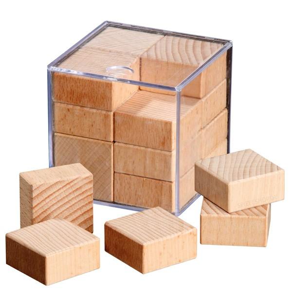 Anti Slide - 15 gleiche Holzteile in Box packen