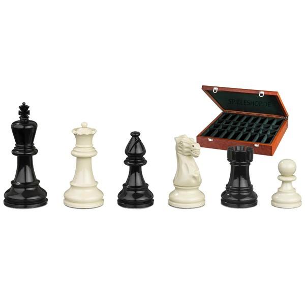 Edel-Schachfiguren Nero - Buchsbaum/schwarz/weiß - 95 mm