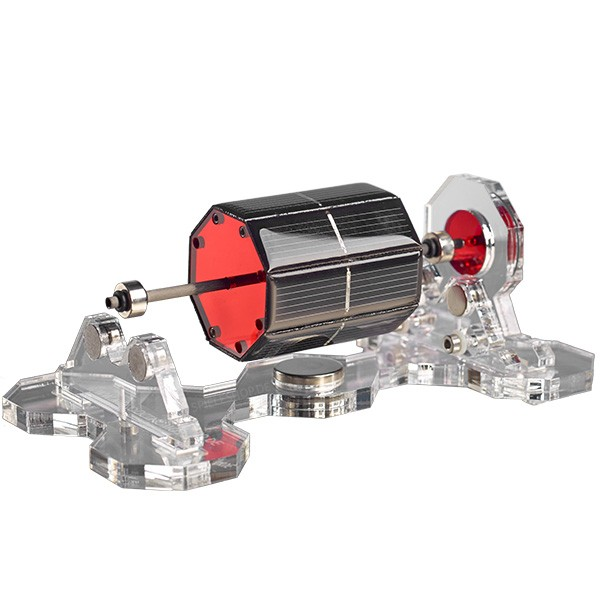 Mendocino-Motor X-8 in Rot mit transparenter Acryl-Basis