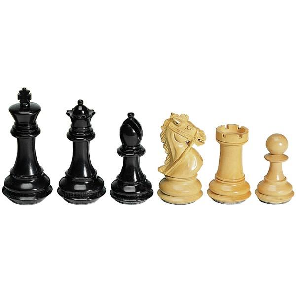 Deluxe Staunton Schachfiguren aus Ebenholz - 102 mm