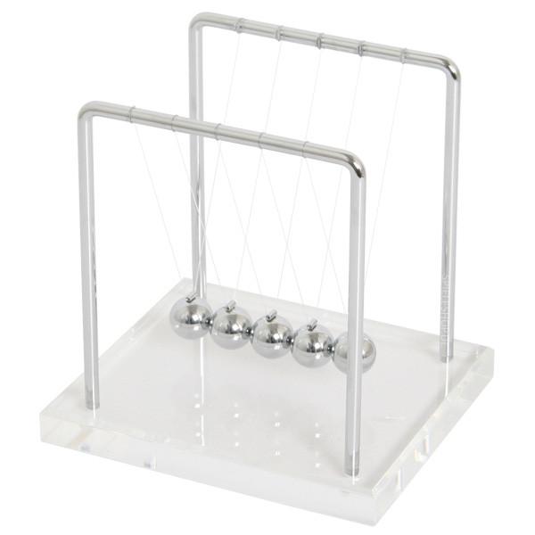 Kugelstoßpendel / Newtons-Wiege mit Acrylsockel - 14 cm
