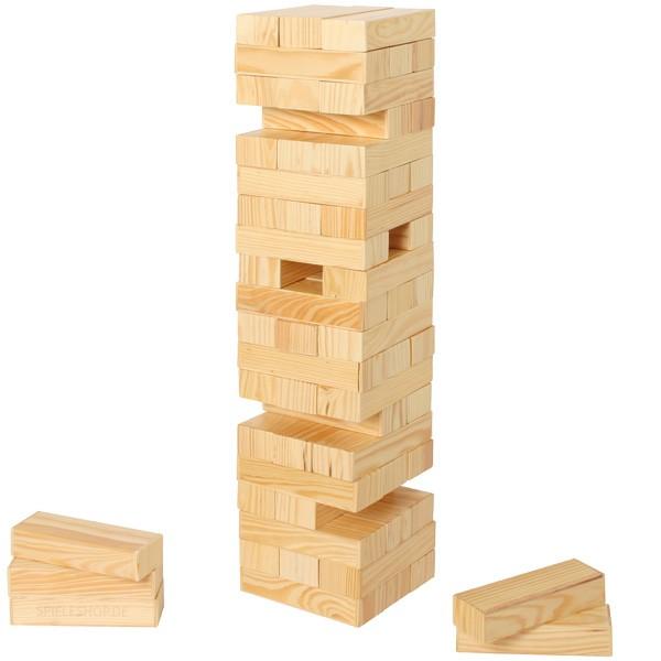 Riesen-Wackelturm aus Holz für Partys oder Outdoor - 60 cm