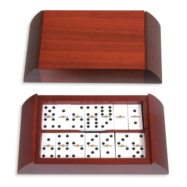 Domino Moldura in Design-Kassette mit Padouk-Deckel - 6er/28 - 22cm