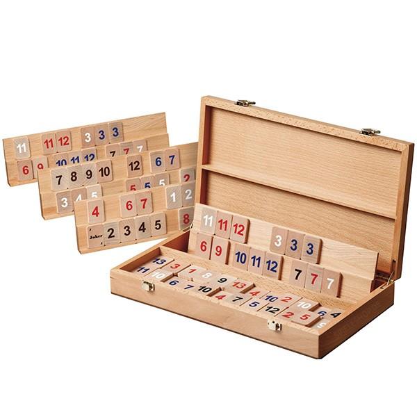 Rummikub Holzkassette - Buche - 36 cm