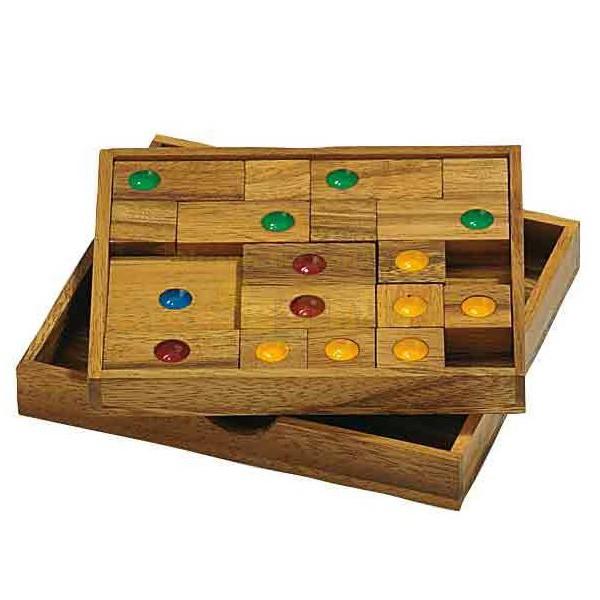 Quadrat Raus Holz-Schiebepuzzle