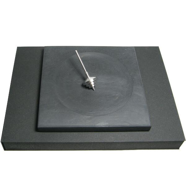 Kreiselset mit Schieferplatte und edlem Aluminiumkreisel