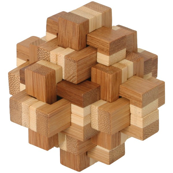 Bambus-Puzzle Kristallus - 20 Puzzleteile