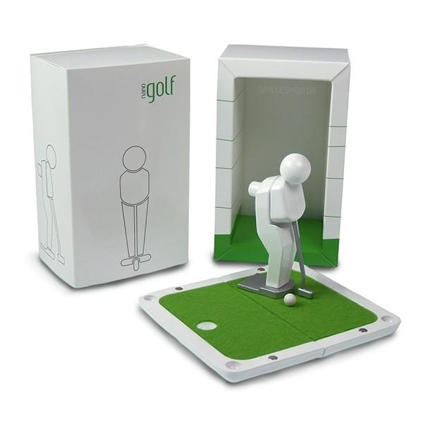 nano-pocket-green white - Weißer hochglanz Design-Golfer