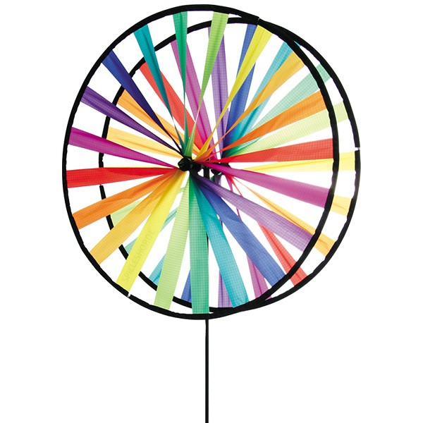 Magic Wheel Giant Duett Rainbow - Riesen Regenbogen-Windrad - 63 cm