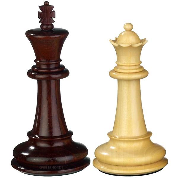 Luxus Schachfiguren aus Sandelholz im Edel-Staunton-Design - 100 mm