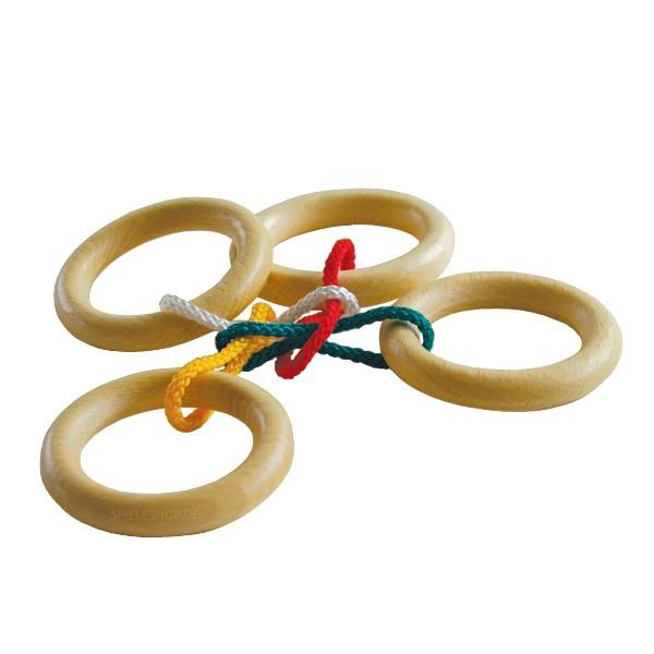 Eureka Entertaining Puzzle Quatro **** - Seilpuzzle mit 4 Ringen