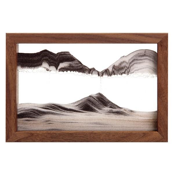 Sandbild Horizon mit Walnuss-Holzrahmen