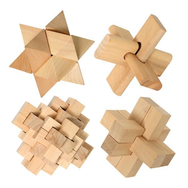 Holzpuzzle-Set Quadruplets