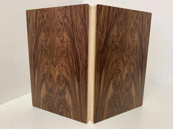 Backgammon-Koffer - Mango mit Intarsien - 36 cm - Deutsche Handarbeit