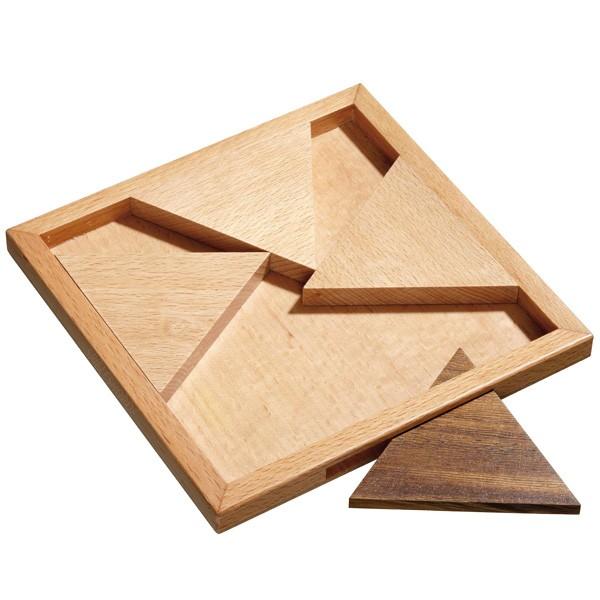 Schiebepuzzle Triangular - Geduldspiel mit Holz-Dreieck