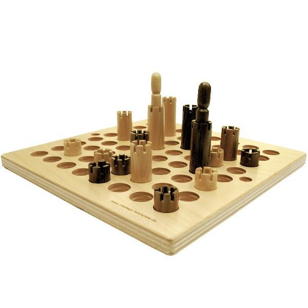 Welt der Türme - Hochwertiges Holz-Brettspiel von Intellego