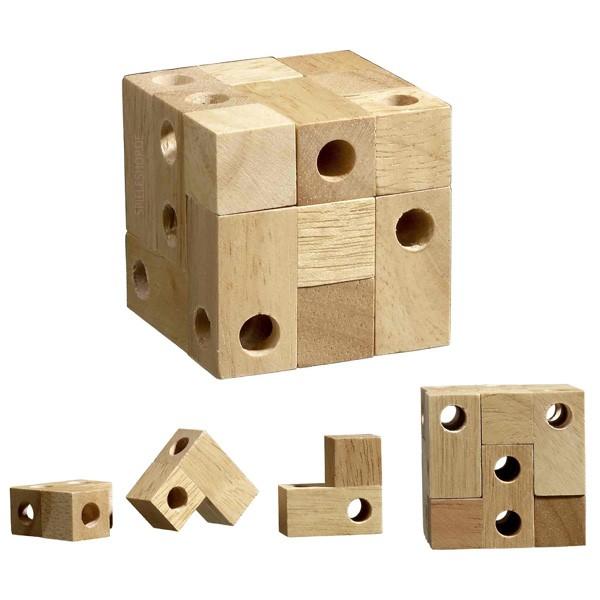 Würfel mit Durchblick - 9 Puzzleteile