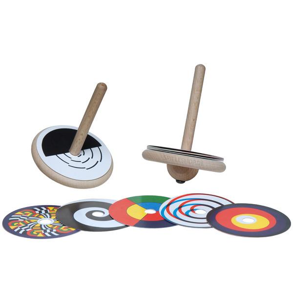 Farbscheiben-Kreisel aus Holz
