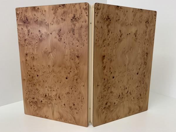 Backgammon-Koffer - Eibe mit Intarsien - 36 cm - Deutsche Handarbeit
