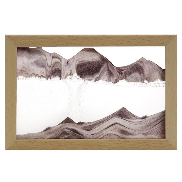 Sandbild Horizon mit Buche-Holzrahmen
