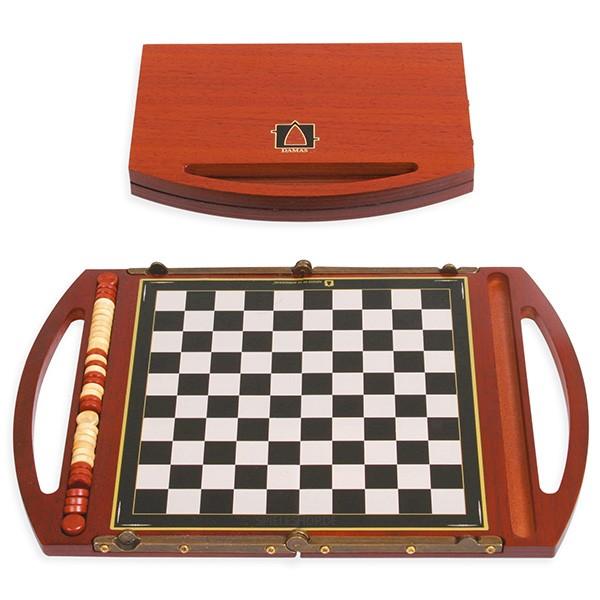 Kleiner moderner Dame-Mini-Koffer aus Padouk - 19,5 cm