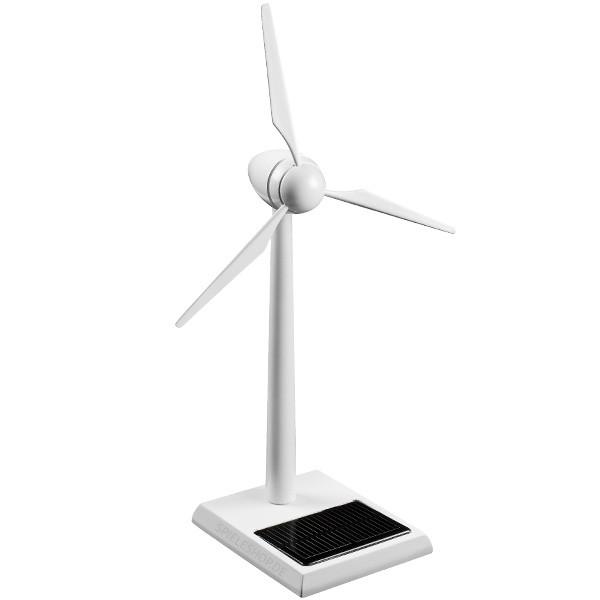 Solar-Windgenerator aus Holz weiß lackiert