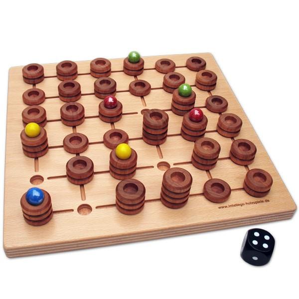Zaunkönig - Hochwertiges Holz-Strategiespiel mit Würfel von Intellego