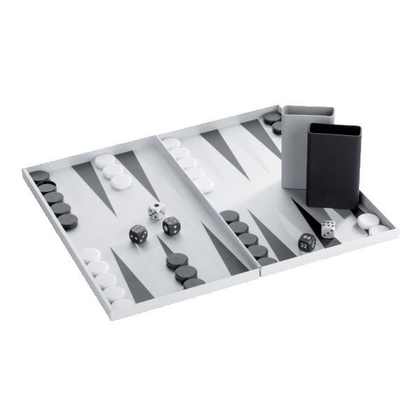 Lexon Design Backgammon aus Aluminium