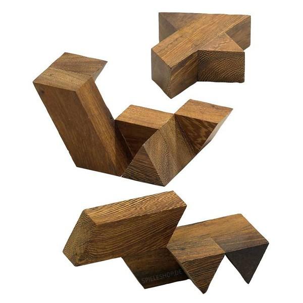Prisgon - Holzpuzzle aus Dreiecksprismen
