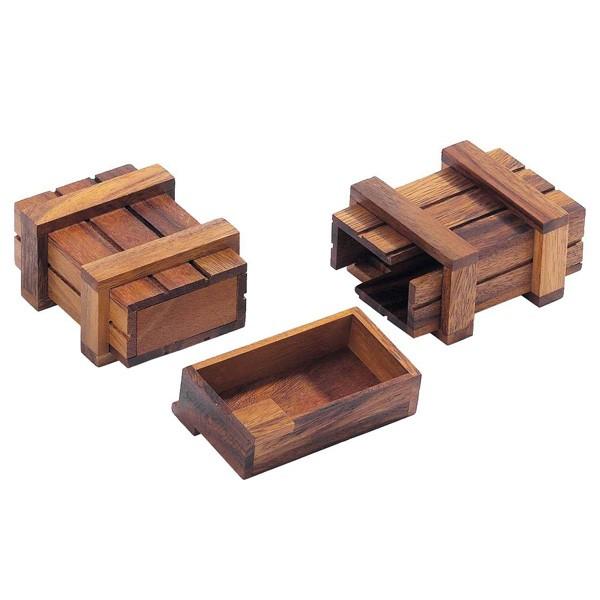 Schatztruhe Holz-Trickspiel