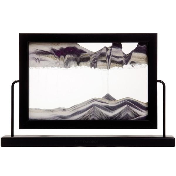 Sandbild Window mit drehbarem Standrahmen in Schwarz